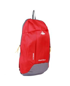 Nylon Back Pack Red Gray Color (40*23*10) cm