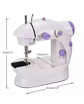 8 in 1 Electronic Sewing Machine With Paddle - White and Purple