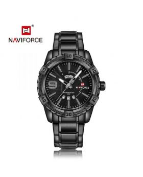 NaviForce NF9117S Date/Day Function Analog Watch - Black