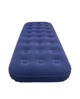 Inflatable Single Air Bed - Blue