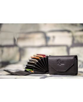 Black Pure Leather Card Holder