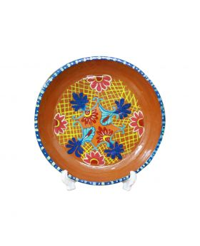 Clay Plate Medium Sized Design No 3