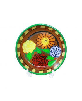 Clay Plate Medium Sized Design No 4