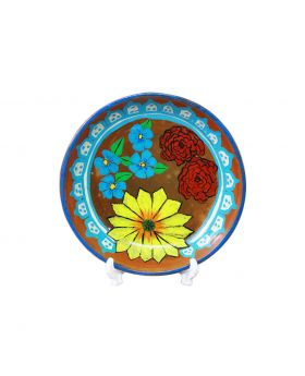 Clay Plate Medium Sized Design No 5