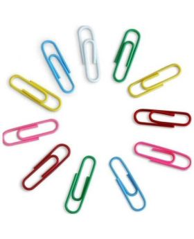 Multicolor Plastic Gem Clip for Paper- 29mm( 200 pc)