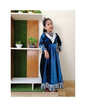 Girls new velvet fabric party dress