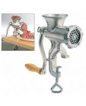 Manual Meat Grinder Mincer - Silver