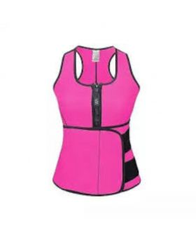 Slimming Adjustable Waist Belt Body Shaper - Magenta