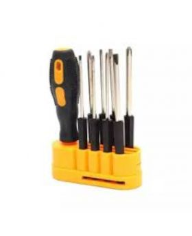 8 In 1 Screwdriver Set - Black And Yellow