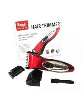New Cordless Hair Trimmer KM-3801- Red