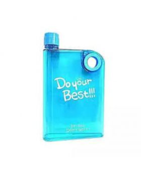 Notebook Water Bottle 380ml - Cyan