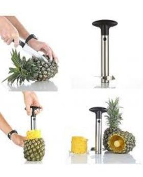 Pineapple Corer, Slicer and Peeler - Silver and Black