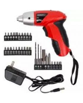Cordless Screwdriver Set - Red and Black