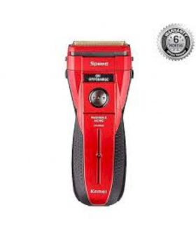 KM-1730 Rechargeable Shaver For Men - Red