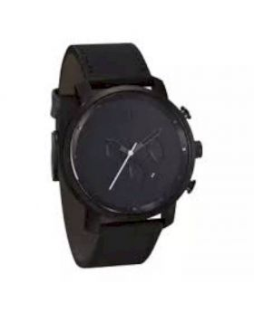 Black Strap Leather Watch For Men