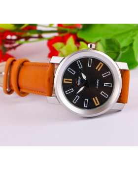 Chocolate Artificial Leather Analog Watch for Men