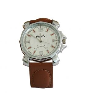 Femix EW0029 Stainless Still Chocolate Colored Leather  Belt Analog Mens Watch