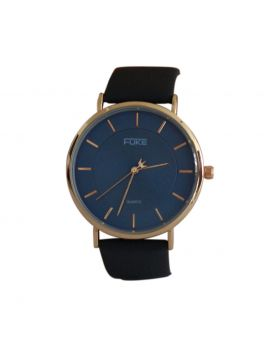 Fuke EW0035 Mens Stainless Still Blue Colored Leather  Belt Analog  Watch