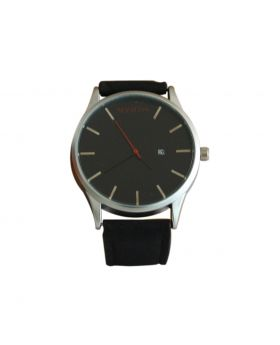 Mavatm(D) EW0039 Stainless Still Black Colored Leather  Belt Analog Mens Watch