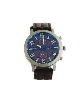Fastrack EW0070 Stainless Still Leather Belt Analogue Watch For Men