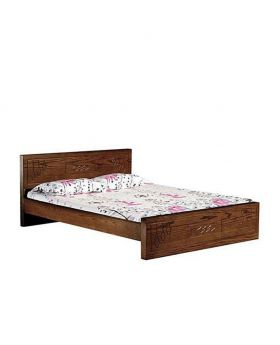 Canadian simple Oak Veneer Wood Bed - Lacquer Polish