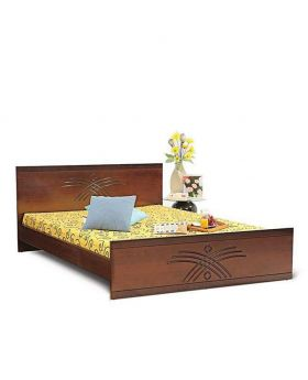 Malaysian MDF Wooden Bed - Lacquer Polish
