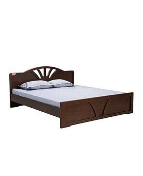 Wood Canadian Oak Veneer  Bed - Lacquer Polish