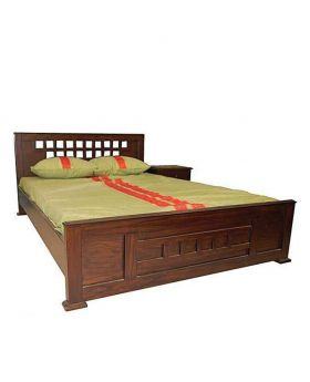 Wood Polish Canadian Oak Veneer Wood Bed - Lacquer Polish
