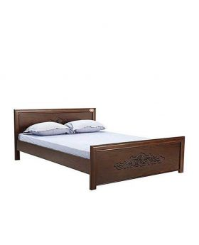 Canadian Full Oak Veneer Wood Bed - Lacquer Polish