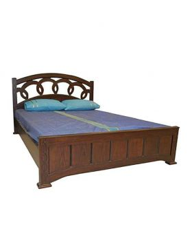 Canadian  Veneer  oak Wood Bed - Lacquer Polish