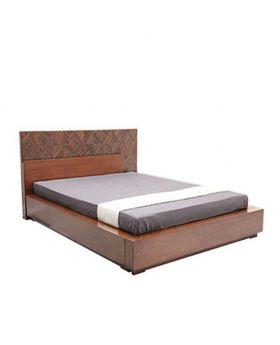 Canadian Oak Veneer Wood Bed - Lacquer Polish Wood Bed