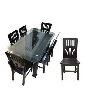 """DI 129 - Malaysian Process Wood Dinning Set - Chocolate """