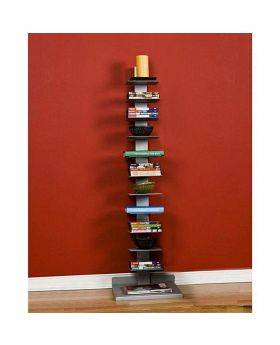 Malaysian Processed Square EWood Book Shelf - Multi Color