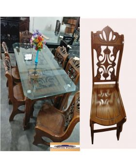 DI-53 - Dining Table With 6 Chair - Brown