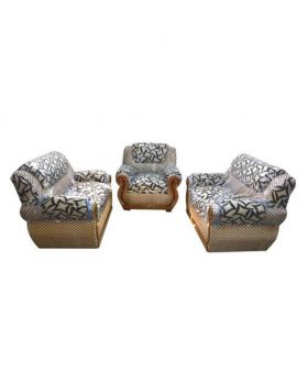 SA 362 - Malaysian Process Wood Nice Design Sofa Set - 2+2+1= 5 seat - Brown