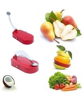 Plastic And Stainless Steel Ganesh Cut 'N' Chop Vegetable Cutter For Kitchen - Multicolor