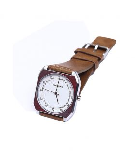 Fastrack FK02301-0019 Stainless Steel Leather Belt Analogue Watch For Men