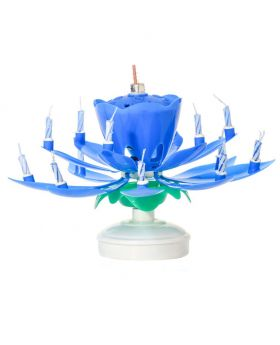 Musical Birthday Candle - Blue