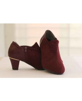 Half Ankel Boot Red Wine