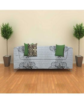 High quality White Ash Color GEOMetric Print With Sofa Cover-1 Yards