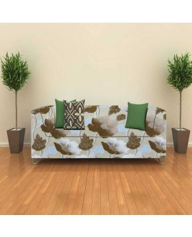 High quality Ash Color flower Print With Sofa Cover-1 Yards