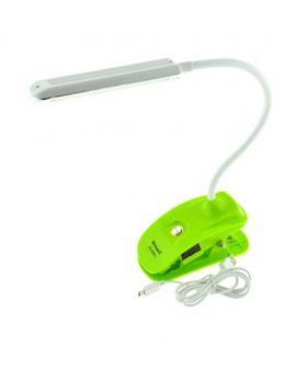 SMD Rechargeable Cordless Reading Lamp with Clip-Green