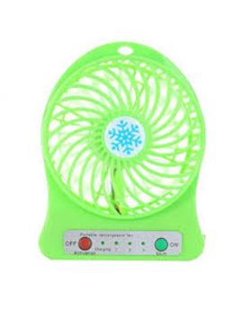 Portable USB Rechargeable Fan - Lime Green