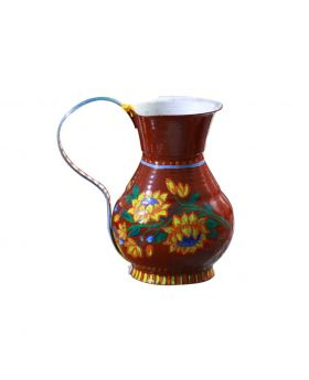 Hand Painted Large Sized Metallic Jug Design No1