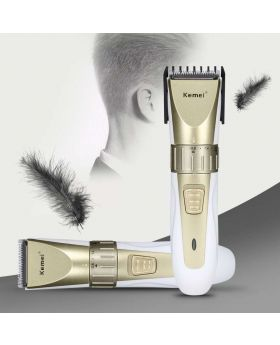 Kemei KM-1990 100-240V Fast Charge Hair Clipper Stainless Steel Blade Trimer Cutter Cordless