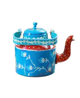 Hand Painted Metal Kettle Design No 1