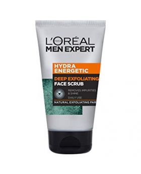 L'Oreal MEN EXPERT HYDRA ENERGETIC DEEP EXFOLIATING 100ml FACE SCRUB (France)