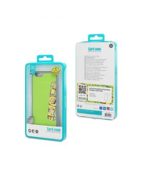 Any Life Popyface ultrathin & flexible Card Case for Iphone 6/6S (Light Green)