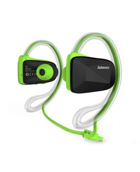 Jabees BSport Bluetooth V4.1 Sweatproof Waterproof Sports Stereo Headphones with NFC ATPX for Running Jogging And Earhook - Green