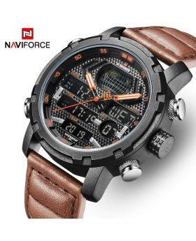 NAVIFORCE NF9165 Stainless Steel Watch for Men - Black & Silver
